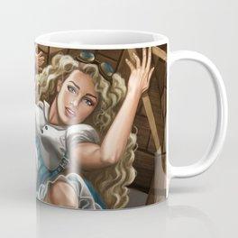 Steampunk Alice in Wonderland Drink Me Coffee Mug