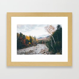 WHITE MOUNTAINS Framed Art Print