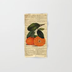 Vintage Oranges Dictionary Art Hand & Bath Towel