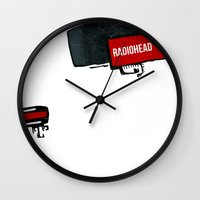 radiohead Wall Clocks featuring radiohead by julianesc