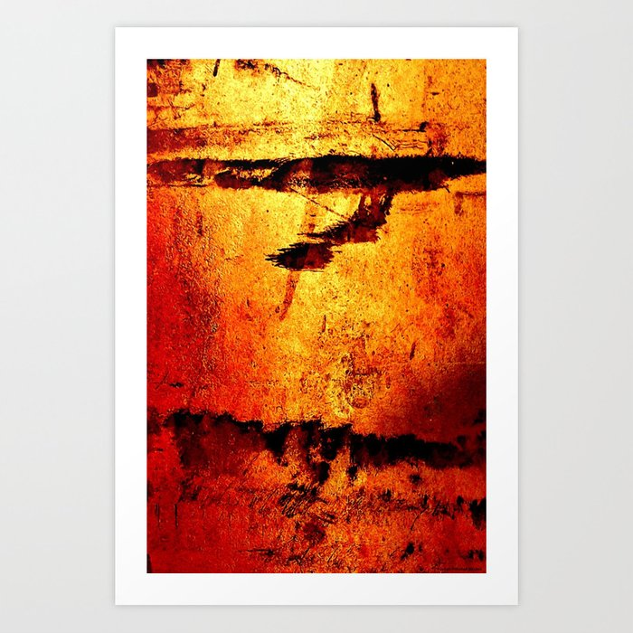 """Metallic Red Stain"" Art Print"