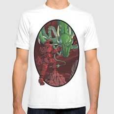 The Dragon on Mars White MEDIUM Mens Fitted Tee