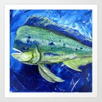 Blue Mahi Art Print
