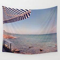 spanish Wall Tapestries featuring Spanish Beachside Brunch by ZBOY