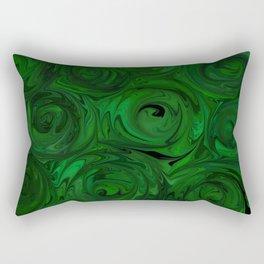 Emerald Green Roses Rectangular Pillow