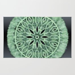 Mint Green 3D Faux Embroidery Rug