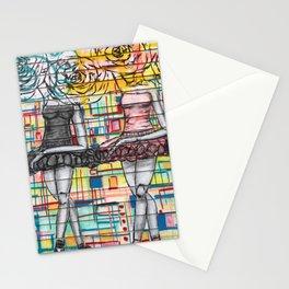 Ballet Dancers Urban Graffiti Art Stationery Cards