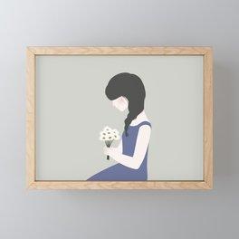 April showers bring May flowers Framed Mini Art Print