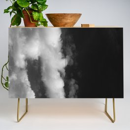 Clouds in black and white Credenza