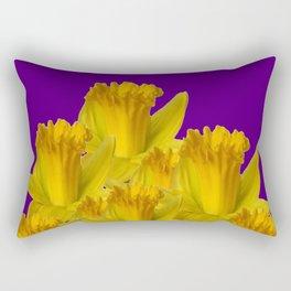 ROYAL PURPLE YELLOW SPRING DAFFODILS Rectangular Pillow