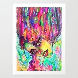 Defragmenting Art Print