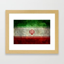 National flag of the Islamic Republic of Iran - Vintage version  Framed Art Print