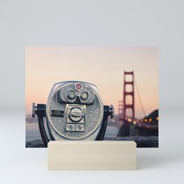 Golden Gate Sunset Mini Art Print