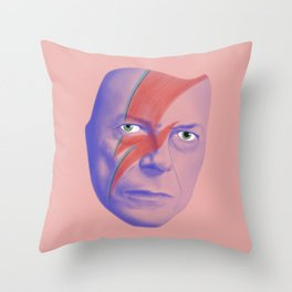 Bowie forever Throw Pillow