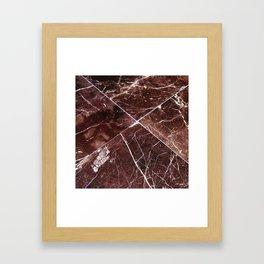 Brown Granite Tiles Framed Art Print