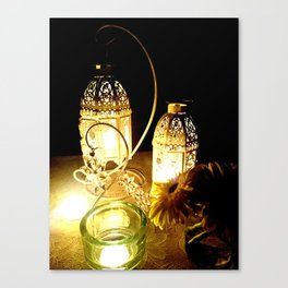 Candlelight dinner Canvas Print