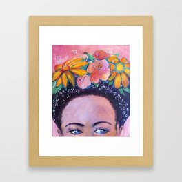 The Muse - a Frida inspired portrait by Anita Revel Framed Art Print