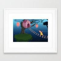 climbing Framed Art Prints featuring Climbing by Loezelot