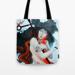 Mermaid girl Tote Bag