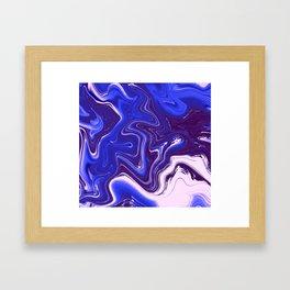 Liquid Neon Framed Art Print
