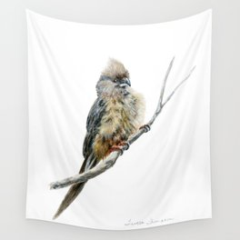 Speckled Mousebird by Teresa Thompson Wall Tapestry
