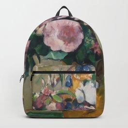"""Paul Cezanne """"Vase of Flowers"""" Backpack"""