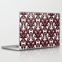 damask Laptop & iPad Skins featuring Damask by Annie Skrmetti