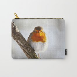 Angry Bird | Portrait of a Robin Redbreast | Bird Photography Carry-All Pouch