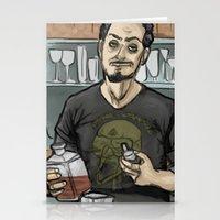 tony stark Stationery Cards featuring Tony Stark, Billionaire by Brizy Eckert