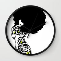 egypt Wall Clocks featuring egypt by Olive Paperie