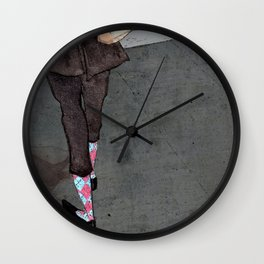 Argyle Socks by Kat Mills Wall Clock