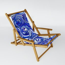 China Blue Paint Swirls Sling Chair