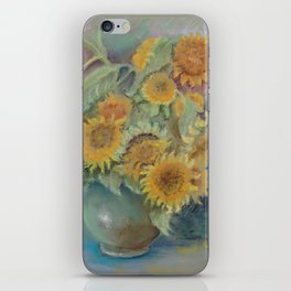 SUNFLOWERS Flowers Classic Still life Impressionistic pastel drawing Floral painting iPhone Skin