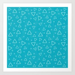 Baby Blue Triangle Pattern Art Print