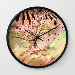 Magic Beans (Alternate colors version) Wall Clock