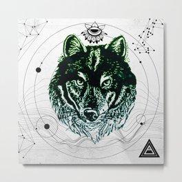 Wolf Pack Metal Print
