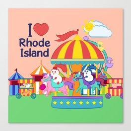 Ernest and Coraline | I love Rhode Island Canvas Print