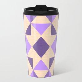 PURPLE AZTEC GEOMETRY Travel Mug