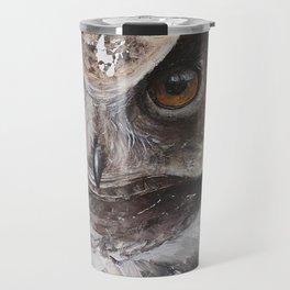 "The Owl - ""Watch-me!"" - Animal - by LiliFlore Travel Mug"