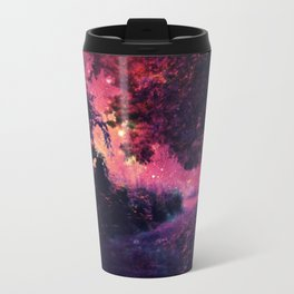 fantasy path Deep Magenta Burgundy Travel Mug