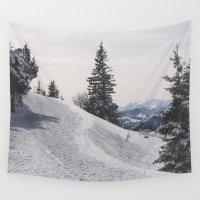 switzerland Wall Tapestries featuring Winter Wonderland by UtArt