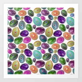 Pysanky Easter Eggs Art Print