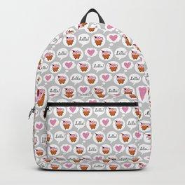 Hello Cupcake (grey) Backpack