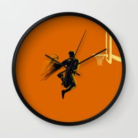 basketball Wall Clocks featuring Basketball  by Enzo Lo Re