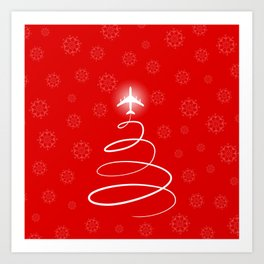 Jet Christmas Tree Art Print