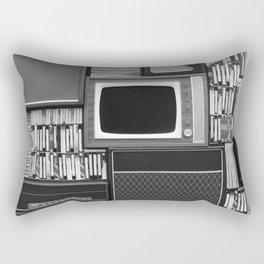 Everything Retro (Black and White) Rectangular Pillow