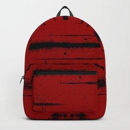 Black Grunge on Red Backpack