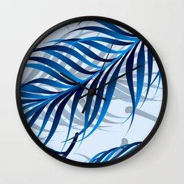 Blue Tropic Wall Clock
