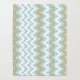 Chevrons and Dots Poster