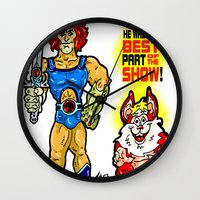 thundercats Wall Clocks featuring SNARF!  The greatest of ALL The Thundercats...  Way cooler than Lion-O! by beetoons
